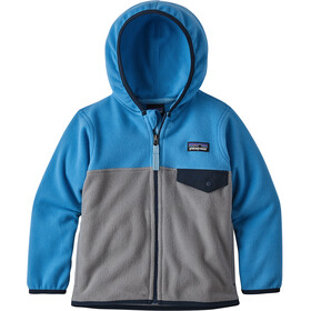 Patagonia Micro D Snap-T Giacca Bambino, feather grey with port blue